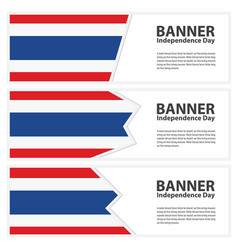 Thailand flag banners collection independence day vector
