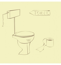 vector illustration of toilet vector image