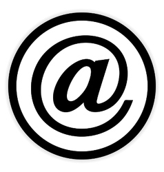Email button on white vector