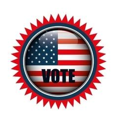 icon button flag usa vote graphic vector image