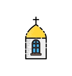 Christianity flat icon vector