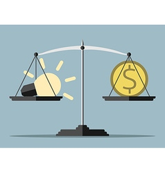Lightbulb money and balance vector