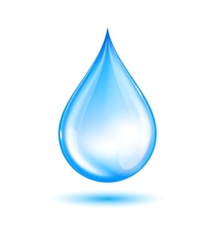 Blue shiny water drop vector image
