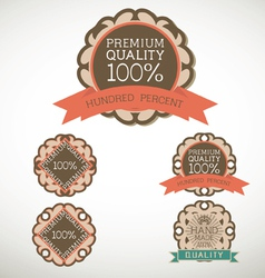 Vintage label style with five design element vector