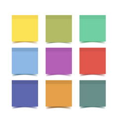 Big collection of sticky note paper pieces vector