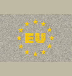 Concrete eu flag vector