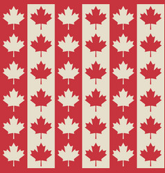 canadian flag symbols seamless pattern vector image
