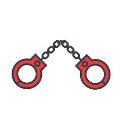 Handcuffs concept line icon editable vector