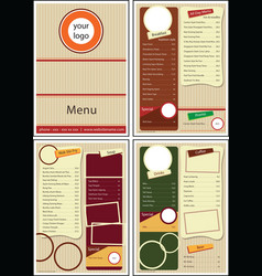 Cafe restaurant menu vector