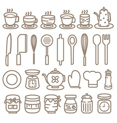 Icon kitchen tools vector