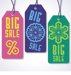 Sale tags design for price vector
