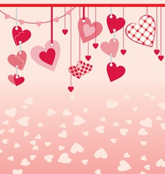 hanging different hearts vector image
