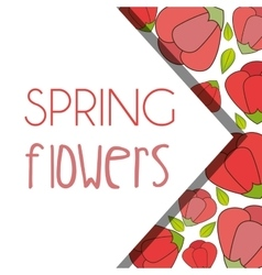Spring flowers design vector