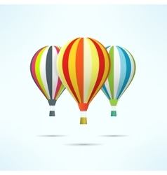 Colorful hot air balloons isolated on white vector