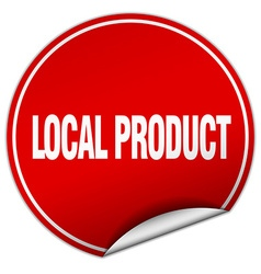 Local product round red sticker isolated on white vector