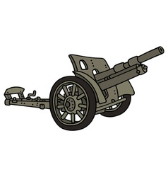 Vintage sand cannon vector
