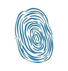 Fingerprint scanner icon security and protection vector
