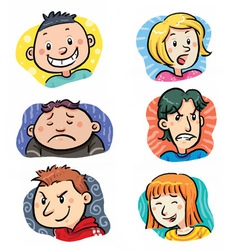 People Expressions vector image