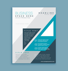 A4 business brochure design with blue grometric vector
