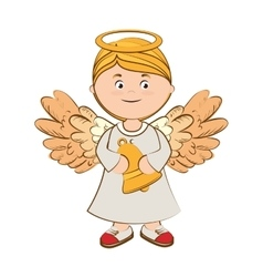Angel bell musical icon vector