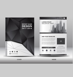 Annual report brochure flyer template business vector