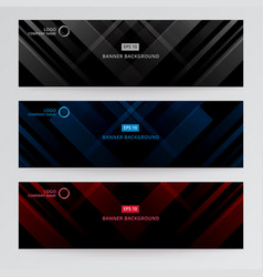 banner web template abstract black gray blue vector image vector image
