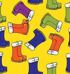 Boots pattern vector