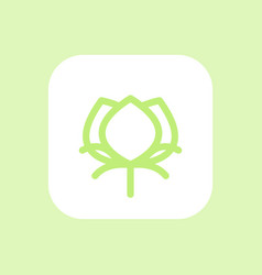 Cotton icon linear pictogram vector