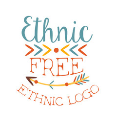 ethnic free print boho style element hipster vector image vector image
