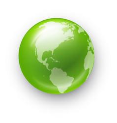 Globe realistic icon vector