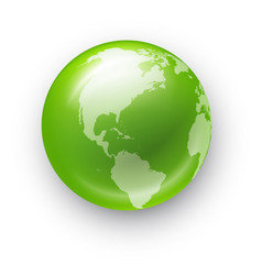 globe realistic icon vector image