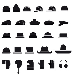 Hat icon set vector image