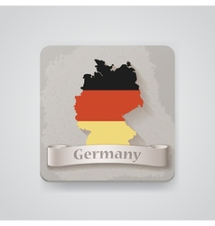 Icon of germany map with flag vector