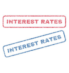 interest rates textile stamps vector image vector image