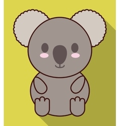Kawaii koala icon cute animal graphic vector