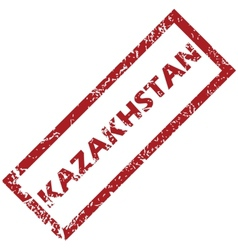 New kazakhstan rubber stamp vector