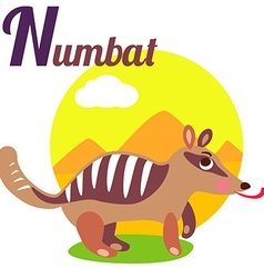 NumbatL vector image