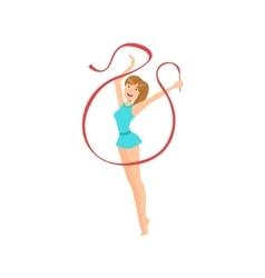 Professional Rhythmic Gymnastics Sportswoman With vector image vector image