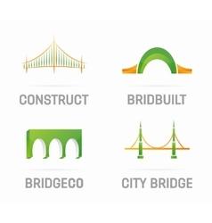 Set of bridge logo design elements vector