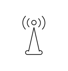 signal tower icon vector image vector image