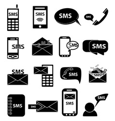 Sms icons set vector image vector image