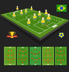 Soccer world cup team presentation vector image vector image