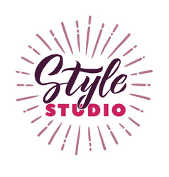 Style studio logo beauty lettering custom vector