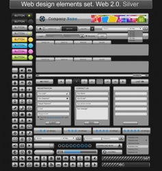 web design elements silver vector image vector image