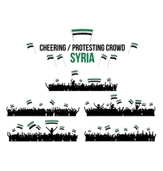 Cheering or protesting crowd syria vector
