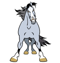 Cartoon grey horse vector