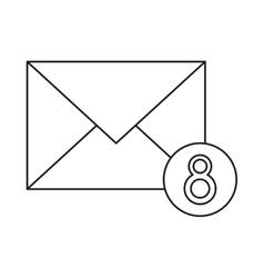 Email envelope received social media outline vector