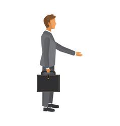 Businessman cartoon icon vector
