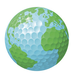 Golf ball world globe concept vector