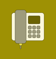 flat icon on background office phone vector image